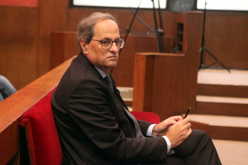Catalan president Quim Torra sits at the dock (by ACN)