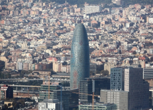 Torre Glòries, also known as Torre Agbar, a landmark on the Barcelona skyline (Arxiu ACN)
