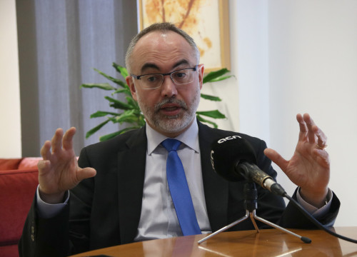 The Secretary of University and Research, Arcadi Navarro, in an interview with the ACN (by Xavier Alsinet)