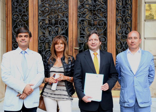Representatives of the Institute for Human Rights of Andorra and 'Drets' association (by Júlia Perez)