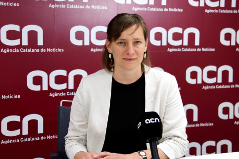 Marie Kapretz at the ACN during her interview in June 2019 (by Helle Kettner)
