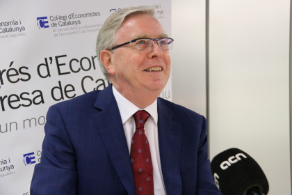 Former EU President Pat Cox during the interview with Catalan News (by ACN)
