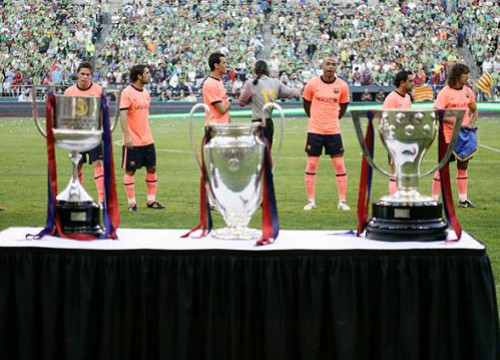 Barça already played in the US in 2009 after having won the European Champions League title that season (by FC Barcelona)