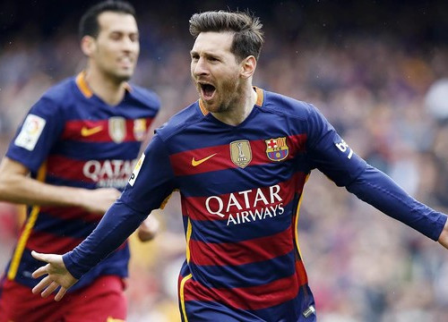 Messi celebrates after opening the scoring in minute eight (by ACN)
