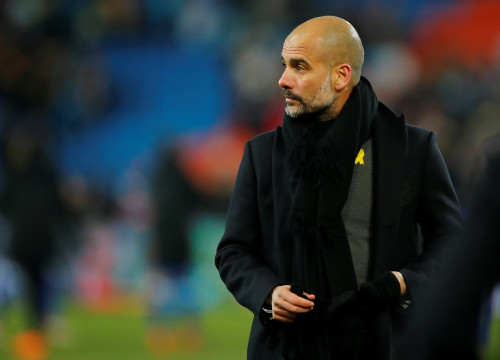 Pep Guardiola at Man City vs Basel in February (by Reuters)