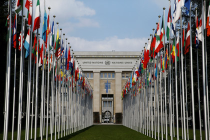 The UN headquarters main building in Geneva (by Denis Balibouse/Reuters)
