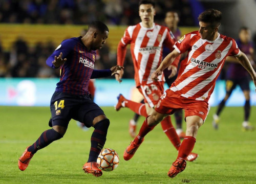 Barcelona and Girona players in action during the Catalan Super Cup Final (Photo: FC Barcelona)