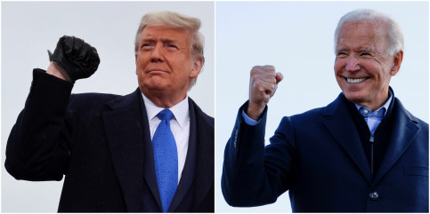 US presidential candidates Donald Trump and Joe Biden (Photos by REUTERS/Jonathan Ernst/Brian Snyder)