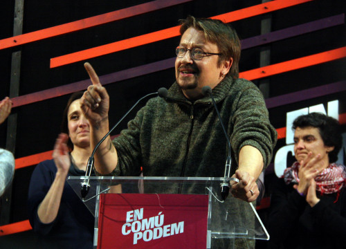 Winning list in Catalonia for the Spanish Elections, alternative left coalition En Comú Podem led by Xavier Domènech (by ACN)