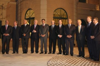 Family picture of the authorities in the official inauguration of the Union for the Mediterranean