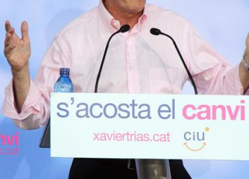 Xavier Trias in his proclamation as a candidate