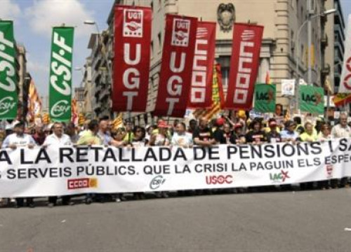 The demonstration in Barcelona
