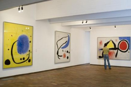 Some Joan Miró pieces at the Fundació Miró in Barcelona.