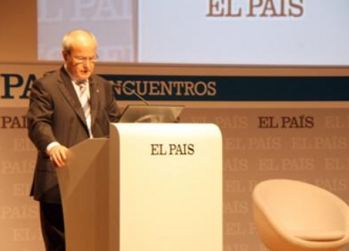 Catalan President José Montilla, during his conference