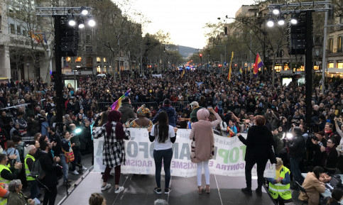 Demonstration against the far-right in Barcelona (by ACN)