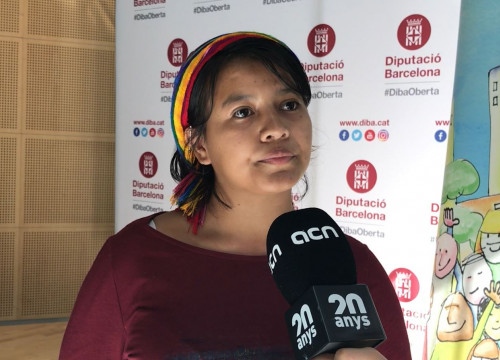Nicaraguan feminist Magaly Castillo at a 'Cities defending human rights' event on October 4, 2019 (by Cristina Tomàs White)