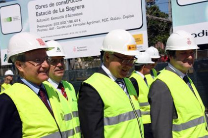 Blanco, Montilla and Hereu visited the area where the station will be constructed