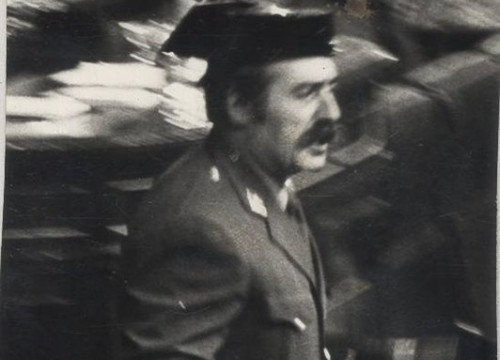 Lieutenant Colonel Antonio Tejero at the Spanish congress (by Diario Región-Agencia EFE)