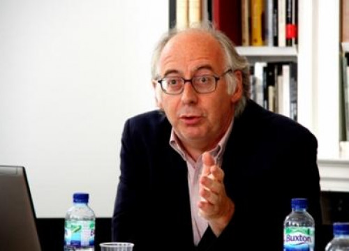 The Director of Memorial Democràtic, Miquel Caminal, during his conference at the LSE