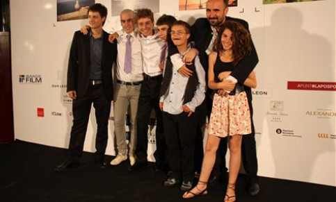 The actors of 'Herois' at the Catalan cinema festival