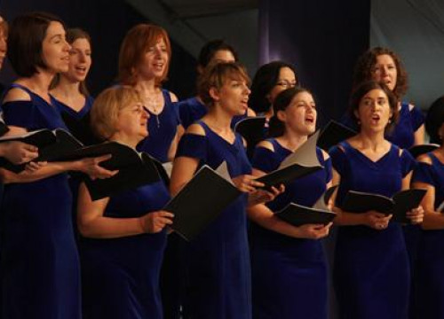 Singers from a Polish choir participating in Cantonigròs' International Music Festival