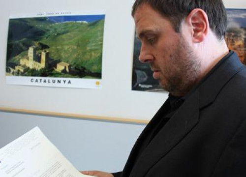 Oriol Junqueras, the Catalan MEP who has received the letters from the President of the European Parliament, the European Counci