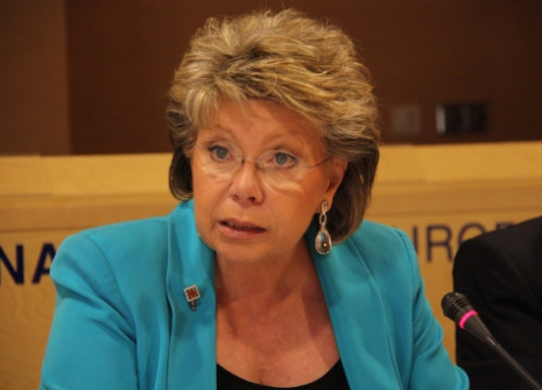 The Commissioner for Justice, Fundamental Rights and Citizenship, Viviane Reding (by ACN)