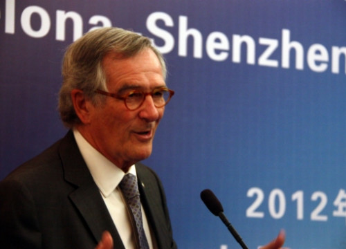 The Mayor of Barcelona, Xavier Trias, in Shenzen (by ACN)
