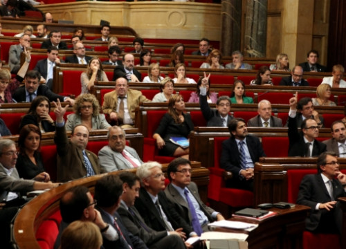 An overall majority of Catalan MPs voted in favour of the new fiscal pact (by ACN)