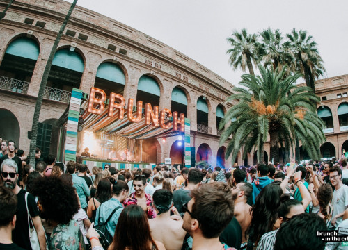 Thousands dancing during the one-day techno and electronic music festival Brunch in the City (photo courtesy of Brunch in the City)