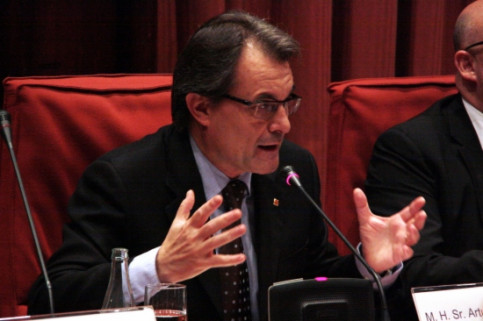 Catalan President Artur Mas during his speech (by ACN)