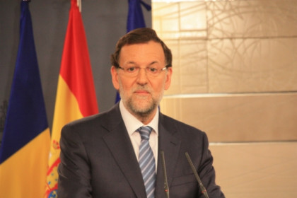 The Spanish Prime Minister Mariano Rajoy during his press conference on Monday (by Roger Pi)