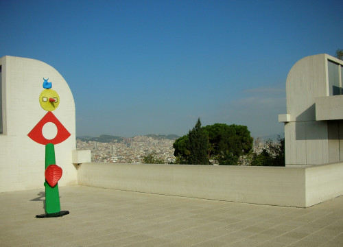 The Fundació Joan Miró has amazing views over Barcelona (by Pere Pratdesaba)