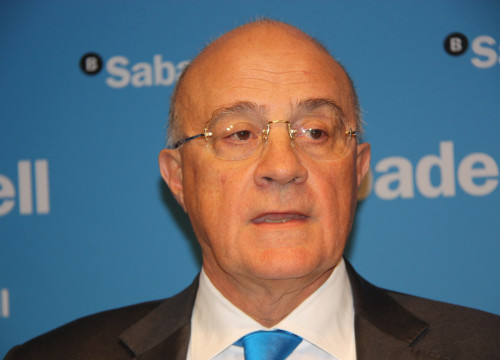 The chairman of Banc Sabadell, Josep Oliu (by ACN)