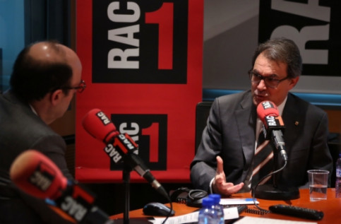 The Catalan President, Artur Mas, during the interview (by J.Bedmar)