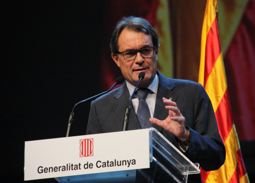 The Catalan President, Artur Mas, during his speech (by ACN)