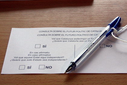 The ballot paper of the 9-N consultation on independence in Catalonia (by ACN)