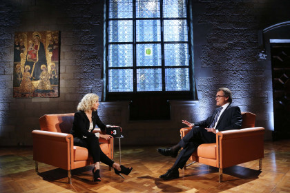 The Catalan President, Artur Mas, interviewed by Mònica Terribas (by Rubén Moreno)