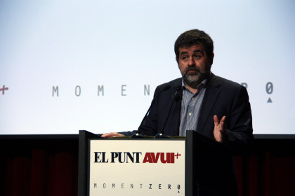 The President of the ANC, Jordi Sánchez, during the 'Moment Zero' event (by ACN)