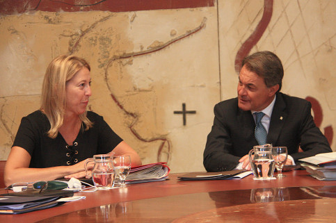The Catalan President, Artur Mas, in a recent picture with Government spokeswoman Neus Munté (by ACN)