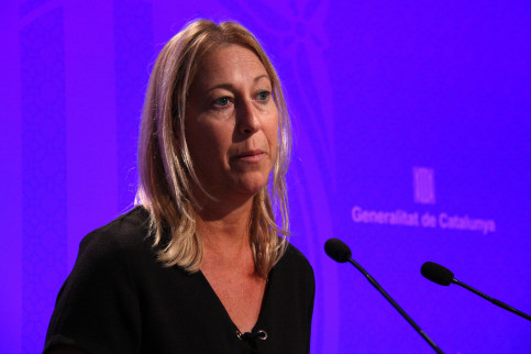 The Catalan government spokeswoman, Neus Munté, during the press conference (by ACN)