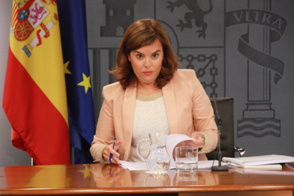 The Vicepresident of the Spanish Government, Soraya Sáenz de Santamaría (by ACN)