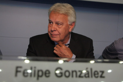 The former Spanish President Felipe González (by ACN)