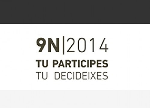 A caption from the Catalan Government's website for the 9th of November's participatory process (by Generalitat de Catalunya)