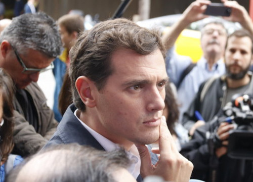 Albert Rivera during his visit to Barcelona on October 22, 2019 (by Gerard Artigas)