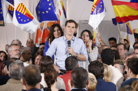 Albert Rivera, head of Ciutadans, at an event on October 16, 2019 (by Gerard Artigas)