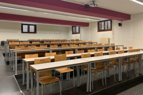 An empty lecture hall (Courtesy of the University of Lleida)