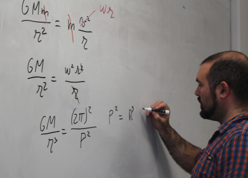 Catalan astronomer, Guillem Anglada-Escudé, at his office during an interview with CNA (by ACN)