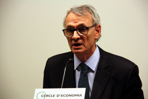 The Cercle d'Economia's president, Anton Costas warned of the negative consequences that Catalonia's independence would have on the economy (by ACN)