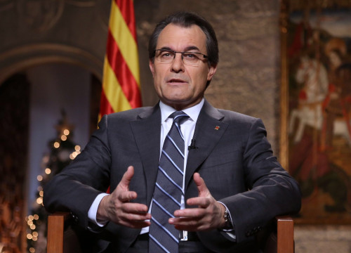 Catalan President Artur Mas during his New Year's Eve Speech (by Jordi Bedmar)